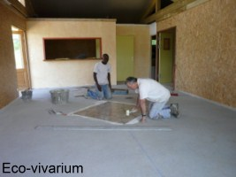 Construction de l'eco-vivarium: carrelage