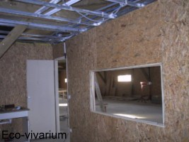 Construction de l'eco-vivarium: cloisson