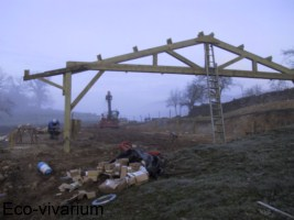 Construction de l'eco-vivarium: structure bois